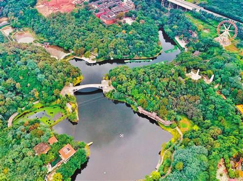 近日,整治后的九龙坡区华岩湖风景如画.