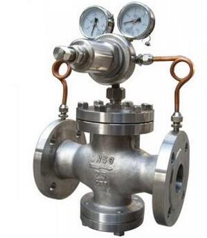 不锈钢法兰氧气调压阀图片