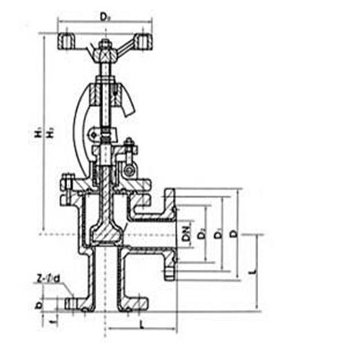 电动角式截止阀结构图