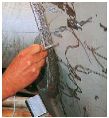 测量焊缝处的铁素体含量